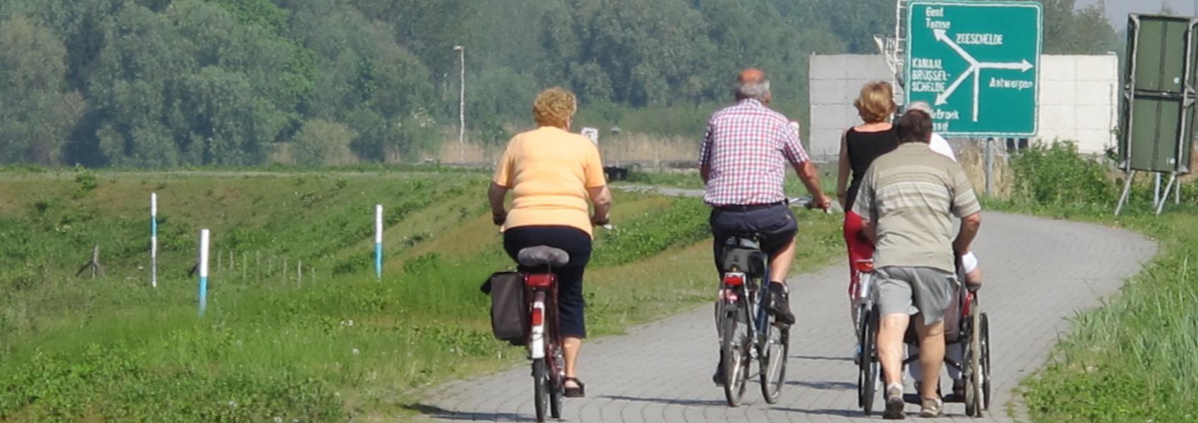 fietsers aan het Noordelijk Eiland