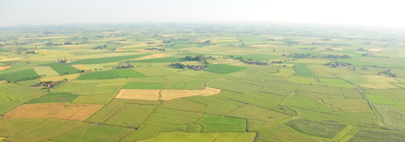 luchtfoto van de komgronden