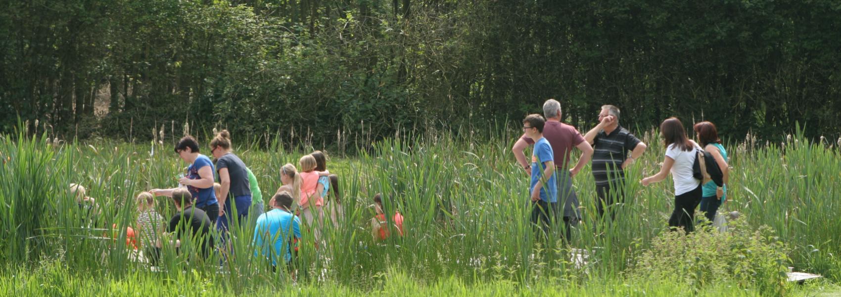 groep mensen in het landschap